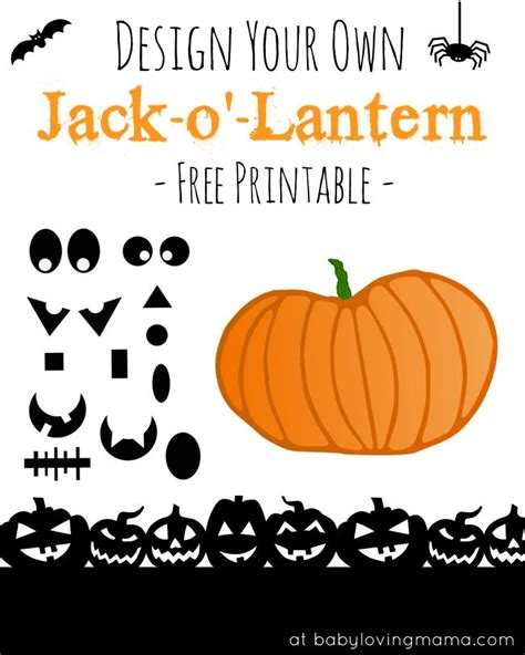 Make Your Own Jack O Lantern Printable | jack o lantern halloween pumpkin free printable