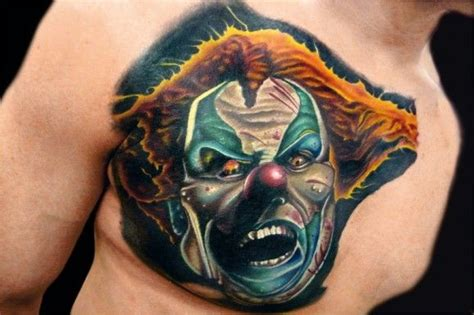 creepy clown tattoo by brandon bond tattooimages biz