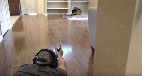gun safe in living room no backyard how about a living room gun range