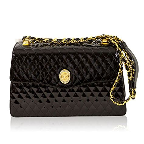 Name That Designer Purse And Suri by Valentino Orlandi Italian Designer Black Quilted Leather