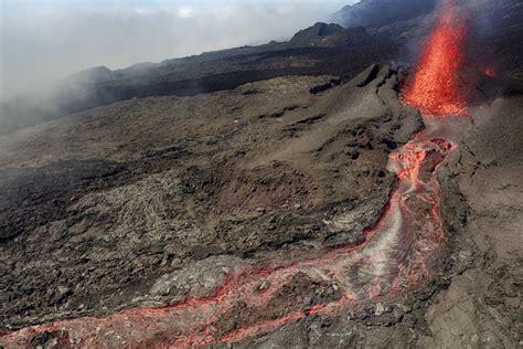 Volcano L by Volcanic Eruption Piton De La Fournaise Dronestagram