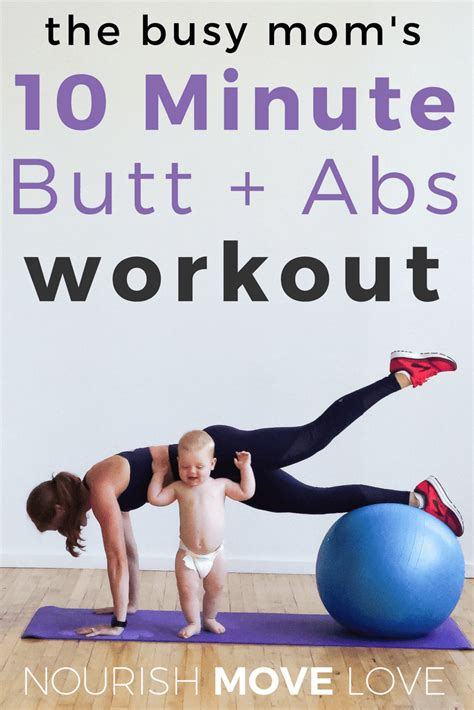 10 minute abs stability workout nourish move