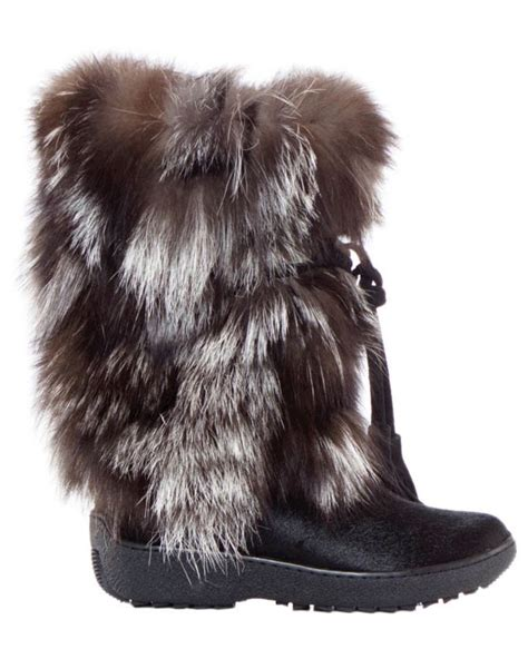 pajar fur boots pajar leather boots fox trot black cow fox oslo collection