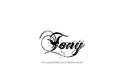 tattoo tony tony name designs