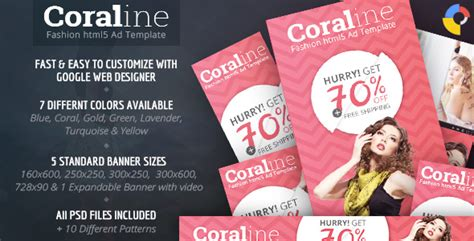 Coraline Fashion Html5 Ad Template By Wiselythemes Codecanyon Html5 Ad Templates