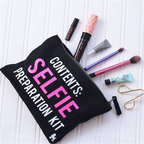 Pouch Make Up selfie preparation kit make up bag personalised by rock
