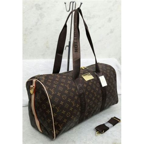 replica louis vuitton big strap monogram duffle bag