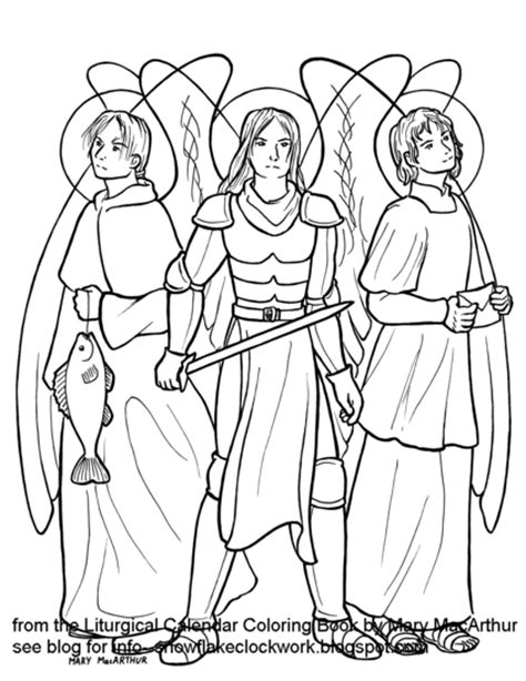 archangel coloring page snowflake clockwork archangels and st jerome
