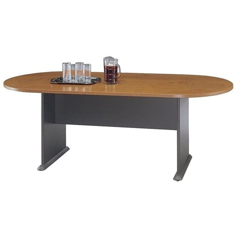 Cherry Conference Table Bush Business Racetrack Conference Table In Cherry Tr57484a