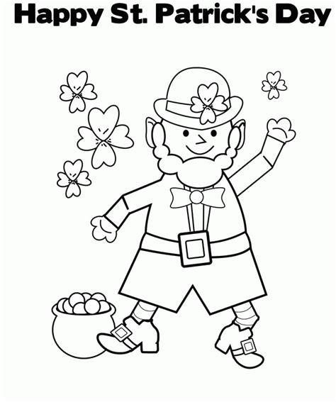 leprechaun coloring page pdf st patrick s day coloring pages free st patrick s day