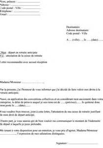 Exemple De Lettre De Demande De Visa Mod 232 Le Lettre Demande D 233 Part En Retraite Anticip 233 E Pour Employeur Lettre