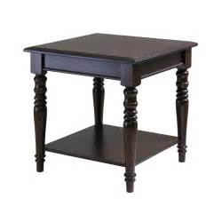 oversized end table winsome whitman square end table by oj commerce 40219