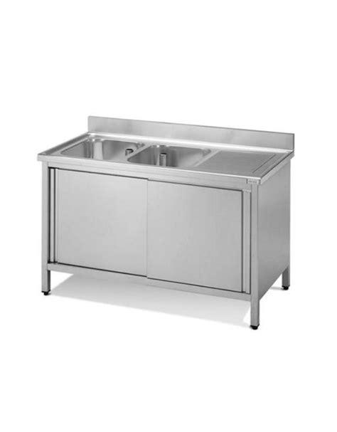 lavello inox 2 vasche lavello 2 vasche gocciolatoio dimensioni cm 180x60x90h