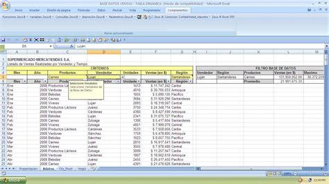 tutorial excel 2010 base de datos base de datos