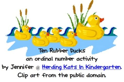 Ordinal Travel Quotes 14 ordinal number cards to go along with 10 rubber ducks by