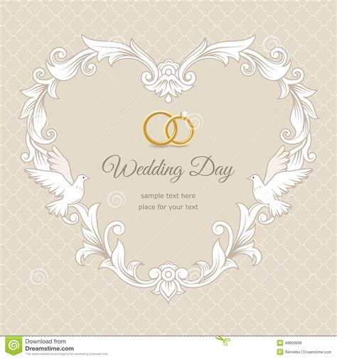 wedding card background templates wedding card stock vector image 48809998