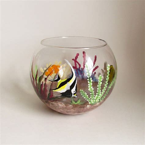 Decorative Fish Bowls by Colorful Fish Bowl Painted Fish Tank Decorative Glass