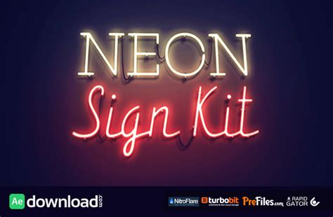 neon sign kit videohive after effects template free