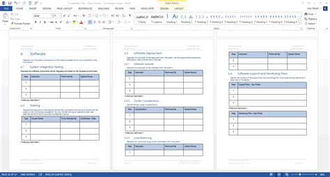 availability plan template ms office