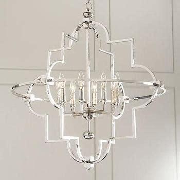 Quatrefoil Light Fixture Global Views Lighting Quatrefoil Silver Nickel Pendant