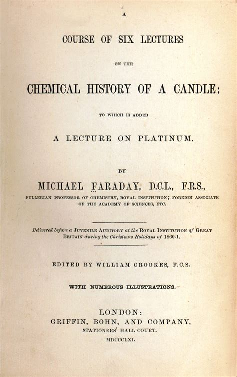 the chemical history of a candle books the chemical history of a candle