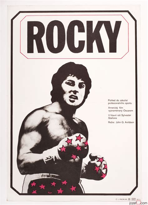 Plakat Rocky by Rocky Poster Minimalist Poster Design 1980s Poster Art
