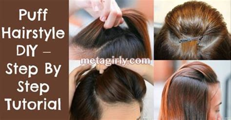 hair style step by step pic puff hairstyle diy step by step tutorial health tips