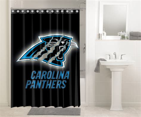 carolina panthers bathroom set carolina panthers nfl football 582 shower curtain