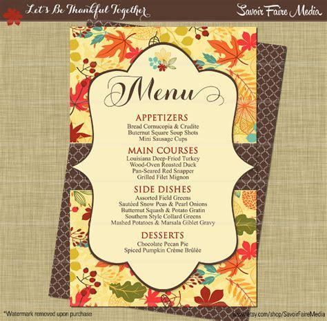 thanksgiving dinner menu template thanksgiving menu template 27 free psd eps format