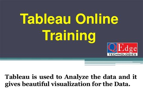 tableau tutorial for beginners ppt tableau online training