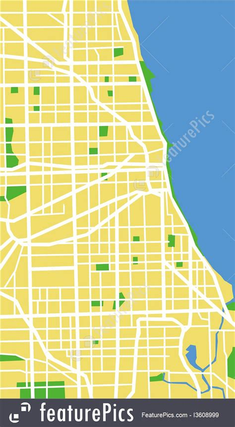 chicago map illustration signs and info chicago map stock illustration i3608999
