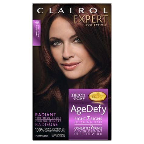 4r hair color clairol n easy age defy expert hair color 4r