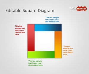 Free Editable Square Diagram For Powerpoint Squares Powerpoint Template