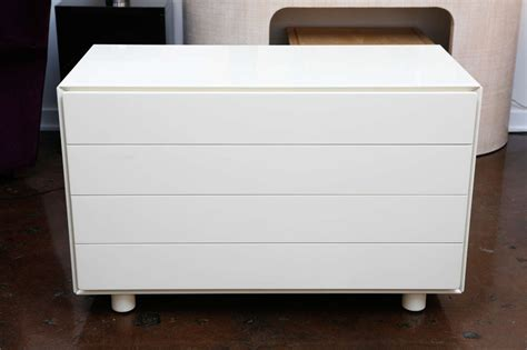 White Lacquer Chest Of Drawers by White Lacquer Chest Of Drawers At 1stdibs