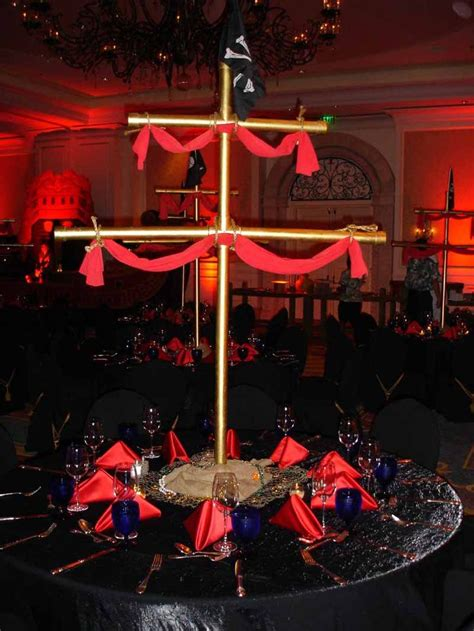 pirate mast centerpiece perfect for any pirate themed