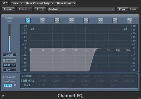 high pass filter eq split band processing bass in logic pro askaudio magazine