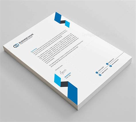 business card letterhead design inspiration clean corporate letterhead design template catalog