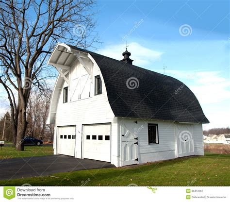 Two Story Colonial House Plans barn shaped garage royalty free stock photography image