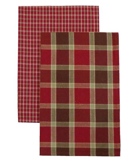 Adt Background Check Adt Saral Multicolour Checks Cotton Kitchen Towel Set Of 2 Buy Adt Saral