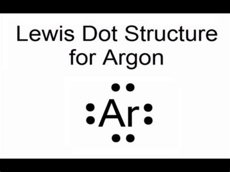 electron dot diagram for argon lewis dot structure for argon atom ar