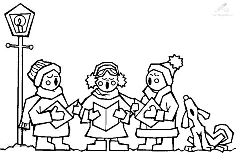 coloring page christmas carolers free coloring pages of carol singers