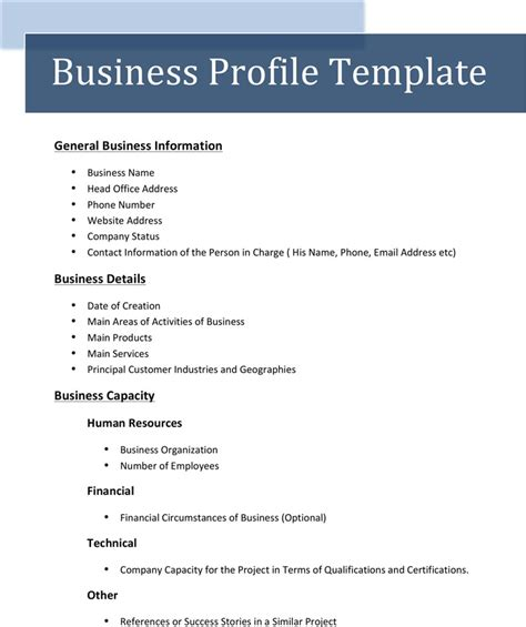 Company profile template pdf free download example good resume company profile template pdf free download 1 wajeb Image collections
