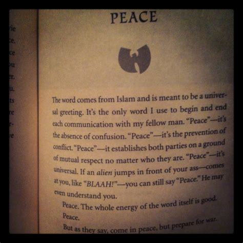 Wu Tang Quotes Book