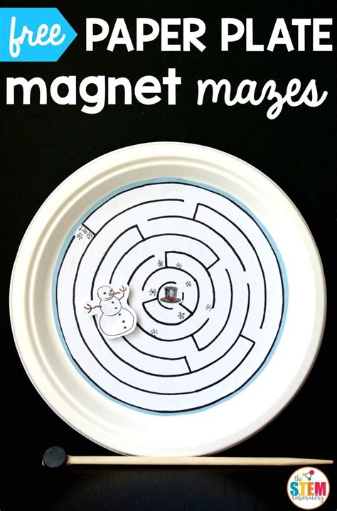 Magnetic Paper Plate Maze Science Experiments For Kids