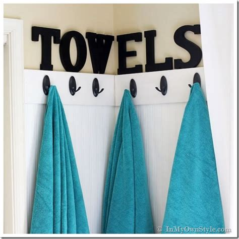 how to hang towels in a small bathroom guest room decorating ideas towel wall in my own style