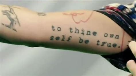 to thine own self be true tattoo perri tattoos and their meanings