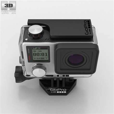 gopro models gopro hero4 black 3d model hum3d