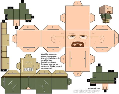 Papercraft Blogs - cubeecraft breaking bad paper fr