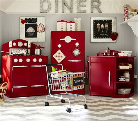 red retro kitchen collection pottery barn kids pink all in 1 retro kitchen pottery barn kids