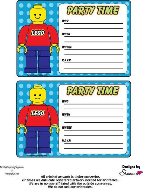 printable invitations lego einladungskarten lego party pinterest invitations